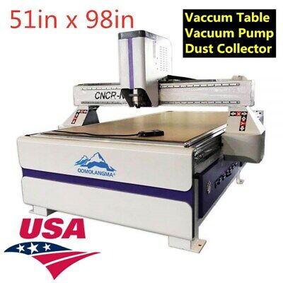 Usa-51 X 98in Ad Woodworking Cnc Router Machinevacuum Pumpdust Collector