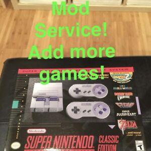 Service d'ajout de jeux pour la mini snes classic edition !