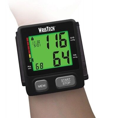 WrisTech Black Color Changing Wrist Blood Pressure Monitor With Adjustable Wrist