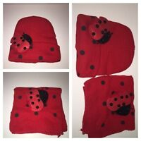 Cute Toddler Ladybug Hat and Scarf