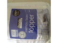 Dunelm double memory foam mattress topper. £45