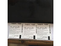 Thorpe park tickets X 3 use any day genuine tickets