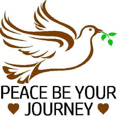 30 Custom Chocolate Peace Journey Art Personalized Address Labels