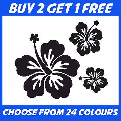 25x Hibiscus Flower Stickers ANY COLOUR Car Home Van Sticker Window Vinyl Decal