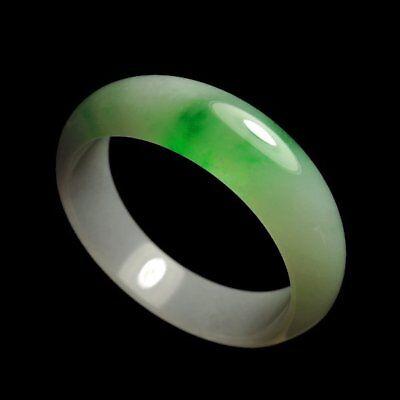【KOOJADE】Icy Emerald Green Jade Bangle Bracelet 53.5mm《Grade A》
