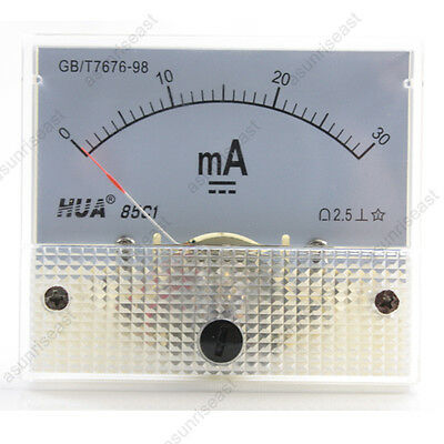 1 Dc 30ma Analog Panel Amp Current Meter Ammeter Gauge 85c1 White 0-30ma Dc