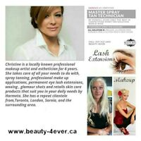 PRO MAC MAKEUP ARTIST, eye lash extensions, Spray tans, Waxing