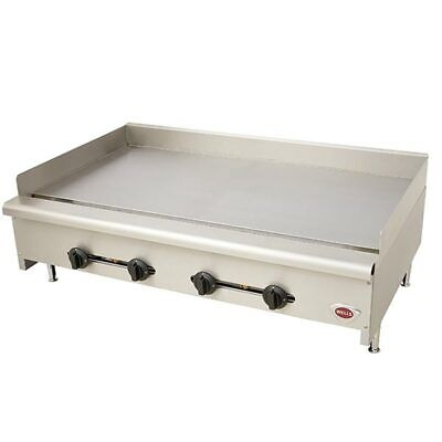 Wells Hdg4830g 48 Commercial 4 Burner Heavy Duty Manual Control Griddle Gas