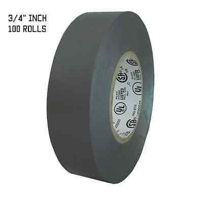 TapesSupply 100  rolls gray electrical tape 3/4