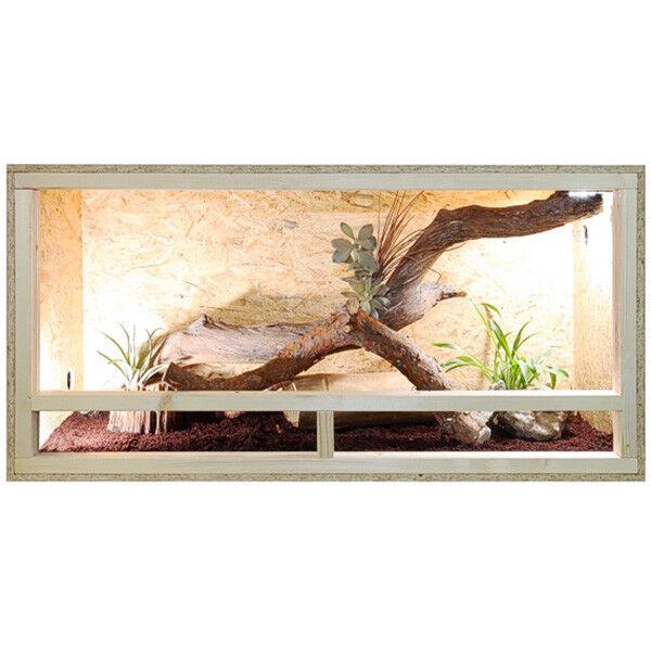 Repiterra Terrarium Seitenbelüftung Holzterrarium OSB Holz Terrarien 120x60x60cm