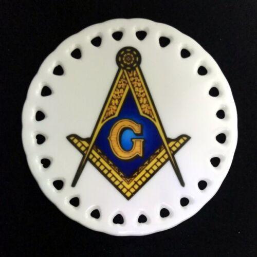 Masonic Round Ceramic Christmas Ornament
