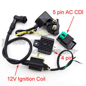 Regulator Rectifier Relay Ignition Coil CDI Chinese For ATV Quad 50 70 90 110cc
