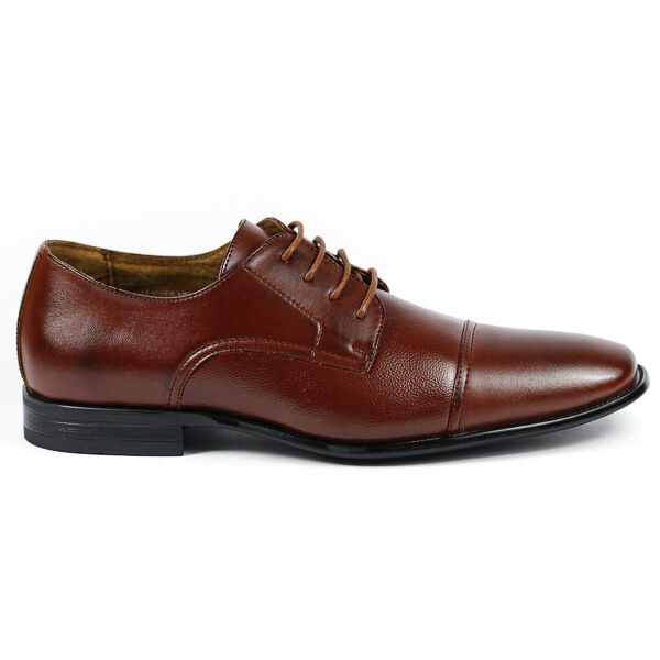 Delli Aldo M-19235 Brown Men's Lace Up Cap Toe Dress Shoes 1