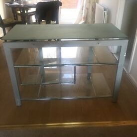 TV unit: glass and metal