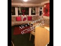 Caravan hire Cresswell towers northumberland