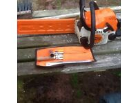 Stihl chain saw stihl hard hat safety trousers