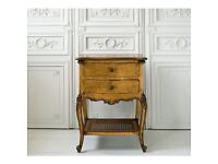 French Versailles gold bedside tables X 2