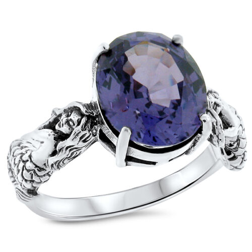 MERMAID COLOR CHANGING LAB ALEXANDRITE .925 STERLING SILVER RING,  #812