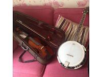 Banjo and violin