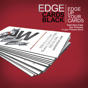 500 Black EDGE Business Cards, 32PT (Uncoated)