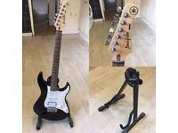 Yamaha Pacifica Electric Guitar / Marshall Amp / Guitar Stand
