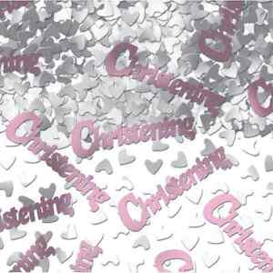 1 PACK BABY GIRL PINK CHRISTENING CONFETTI /  TABLE SPRINKLES  PARTY DECO