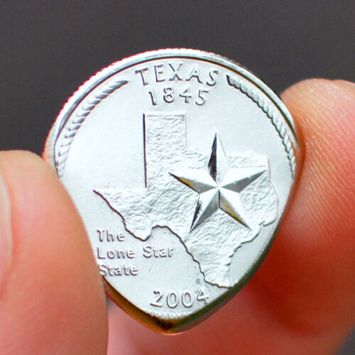 1965+ YEAR OR STATE QUARTER GUITAR PICK COIN -YOU CHOOSE- HAND MADE IN THE USA!