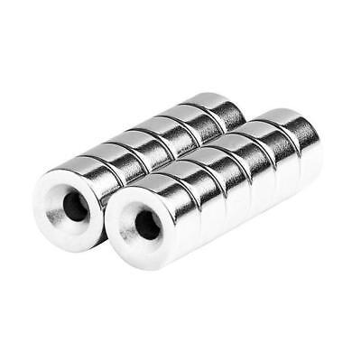 12 X 14 Inch Neodymium Rare Earth Countersunk Ring Magnets N52 12 Pack