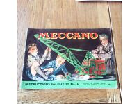 Vintage Meccano Instructions For No. 6 Outfit.