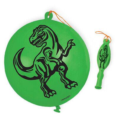 T Rex Birthday (4 Dinosaur Punch Balloon T Rex Birthday Party Fun!! Jurassic Park Toy)
