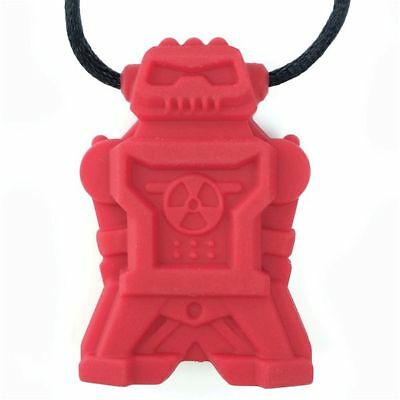 Robotz Chewy Red - Chewable Jewelry - Autism Special Needs Fidget Nontoxic
