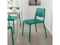 4 x IKEA Teodores Chairs (Green)