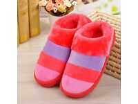 BRAND NEW BRIGHT COLOURFUL SLIPPERS SIZE 7.5