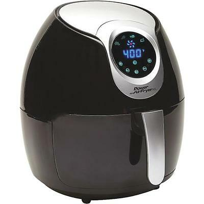 Power Air Fryer Xl 2 4 Qt  Black Healthy Plastic Deep Fryer Pafb 24