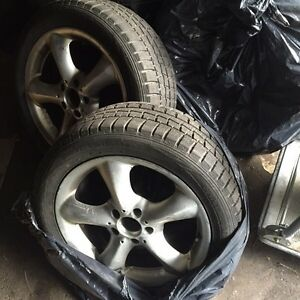 4 Mercedes 17 inch Mags + Tires 5 x 112 fits C CL CLK E S class