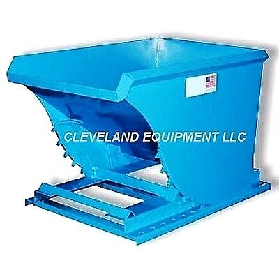 1-12 Cubic Yard Low Profile Self Dumping Hopper - Forklift Dumpster Attachment