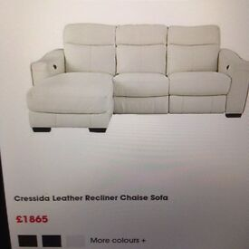 Leather recliner power sofa