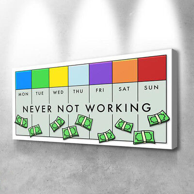 Alec Monopoly Oil Painting on Canvas Graffiti art wall decor,NEVER ...