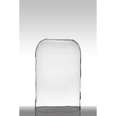 Glashaube, Abdeckung COVER HUGO oval H. 40cm 27x15cm transparent Hakbijl