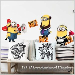 Minions-Despicable-Me-2-Removable-Art-Kids-Mural-Deco-Wall-stickers-Wall-Decal