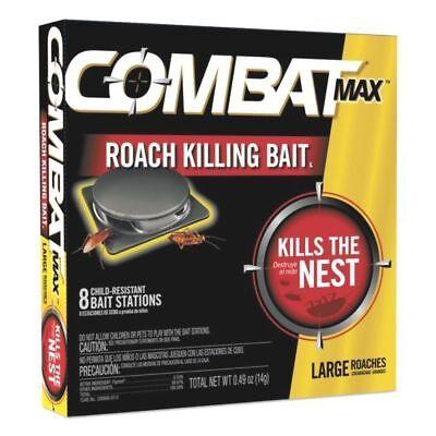 Combat MAX Roach Killing Bait Stations, Large Roaches, 8-Stations / Pkg, 51913