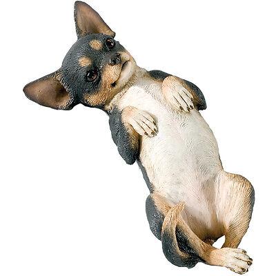 ♛ SANDICAST Dog Figurine Sculpture Chihuahua Black Brown Tri
