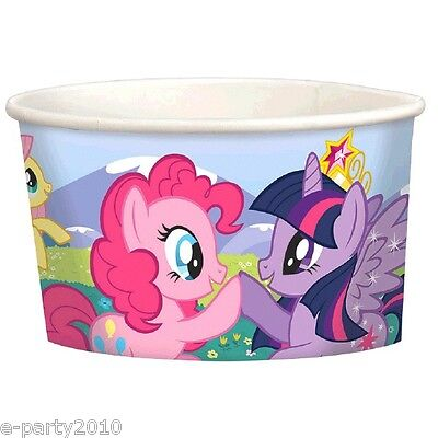 MY LITTLE PONY Friendship is Magic ICE CREAM CUPS(8) ~ Birthday Party Supplies