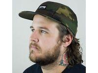 Thrashers 5 panel cap camo skate skateboarding hat mens panel thrasher