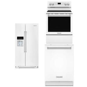 Trio Réfrigérateur/ Cuisinière/ Lave-vaisselle, KitchenAid