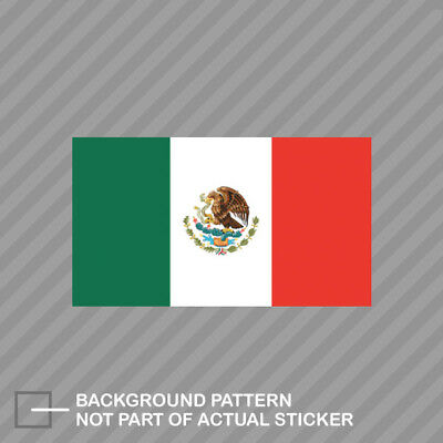 Mexican Flag Sticker Decal Vinyl mexico