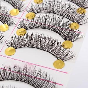 10-Pairs-Handmade-Natural-Thick-False-Eyelashes-Eye-Lashes-Long-Soft-Makeup-Blk