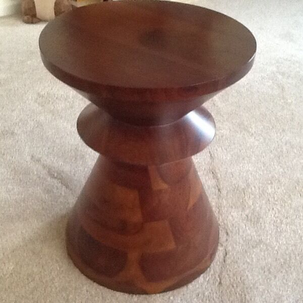 "Coffee table/stoolin Lincoln, LincolnshireGumtree - Coffee table/stool in mahogany solid wood, originally bought from Marks/Spencer, 14"" (35.5cm) diameter, 18"" (46cm) high, excellent condition, collection only"