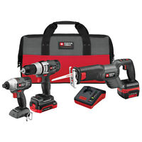 PORTER-CABLE 3-Tool 18-Volt Lithium-Ion Cordless Combo Kit BNIB