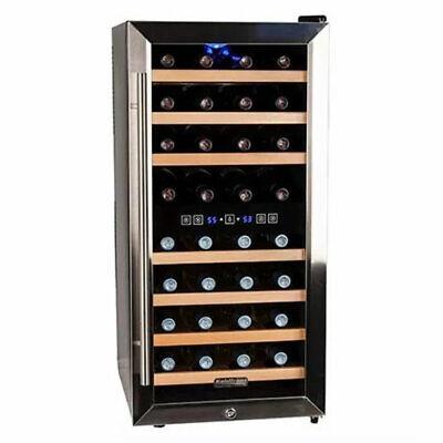 "Koldfront - 32 Bottle 16"" Free Standing Wine Cooler - Dual Z"